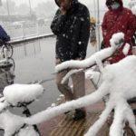 Снегопад в Китае не утихает
