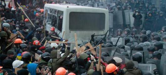 «Террористов» в Киеве оттеснили на Майдан