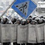 Демонстранты обвиняют США в организации беспорядков в Киеве