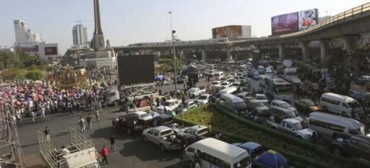 Демонстранты блокировали Бангкок