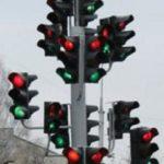 Елка из светофоров установлена в Белоруссии