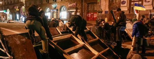 Баррикады в Киеве убрали
